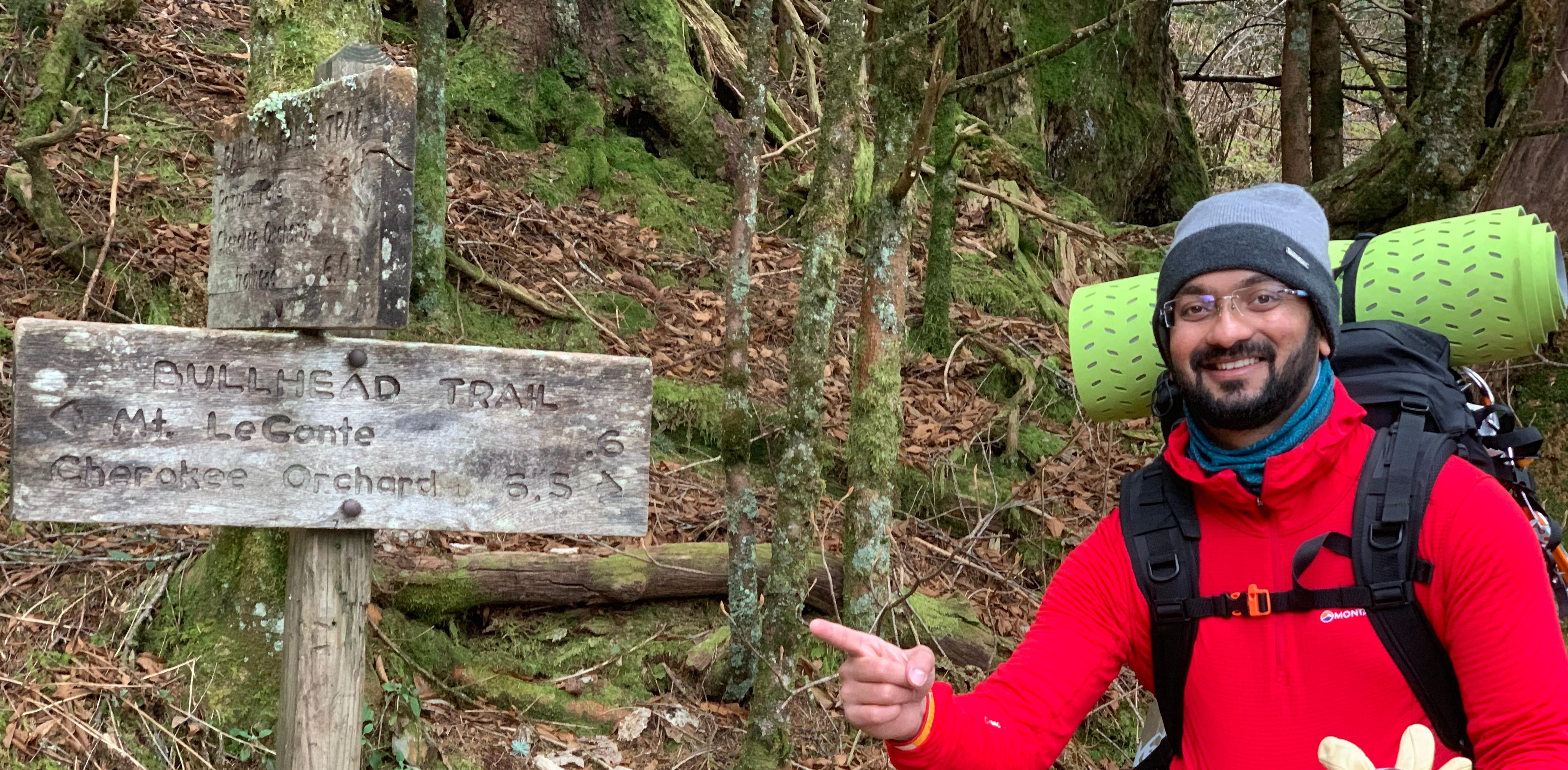 Bullhead Trail meets Rainbow Falls Trail